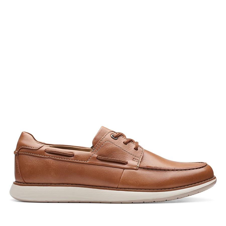 Shoe Warehouse Un Pilot Lace Tan Leather