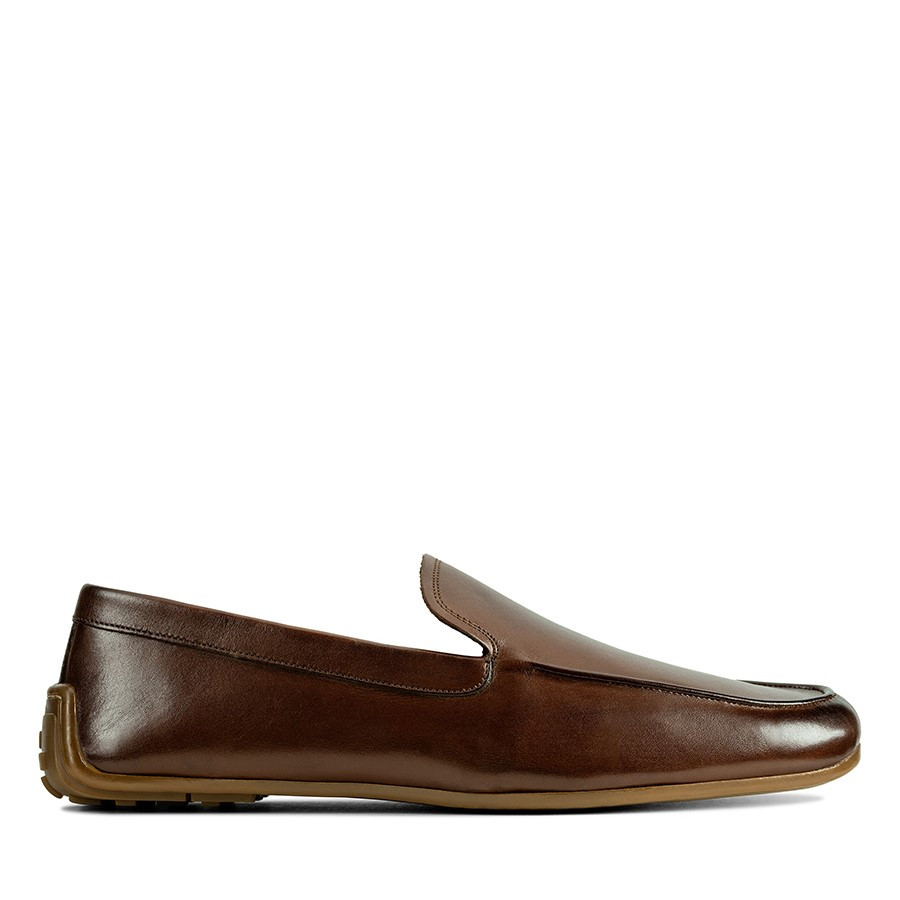 Shoe Warehouse Reazor Plain British Tan Leather