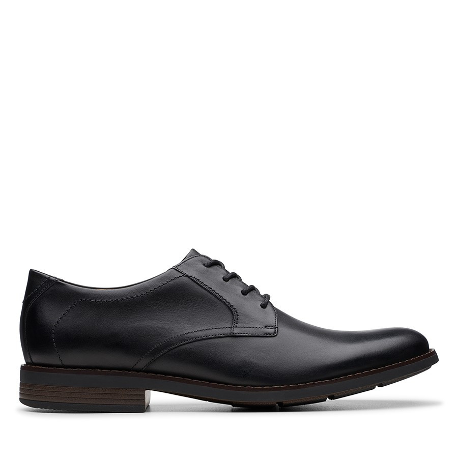 Shoewarehouse Becken Lace Black Leather