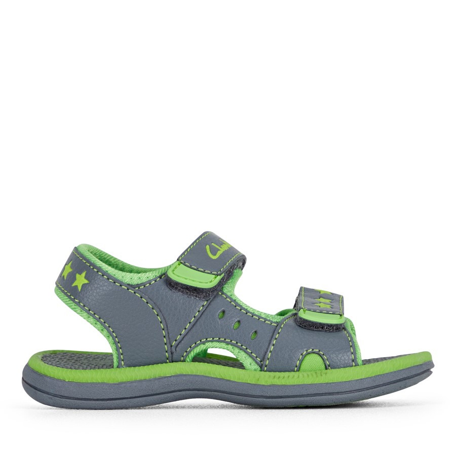 Shoe Warehouse Flip Grey/Lime