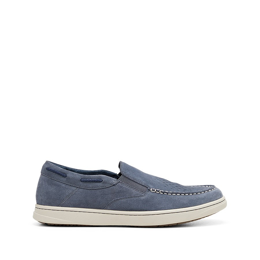 Shoe Warehouse Tyrone Navy Suede