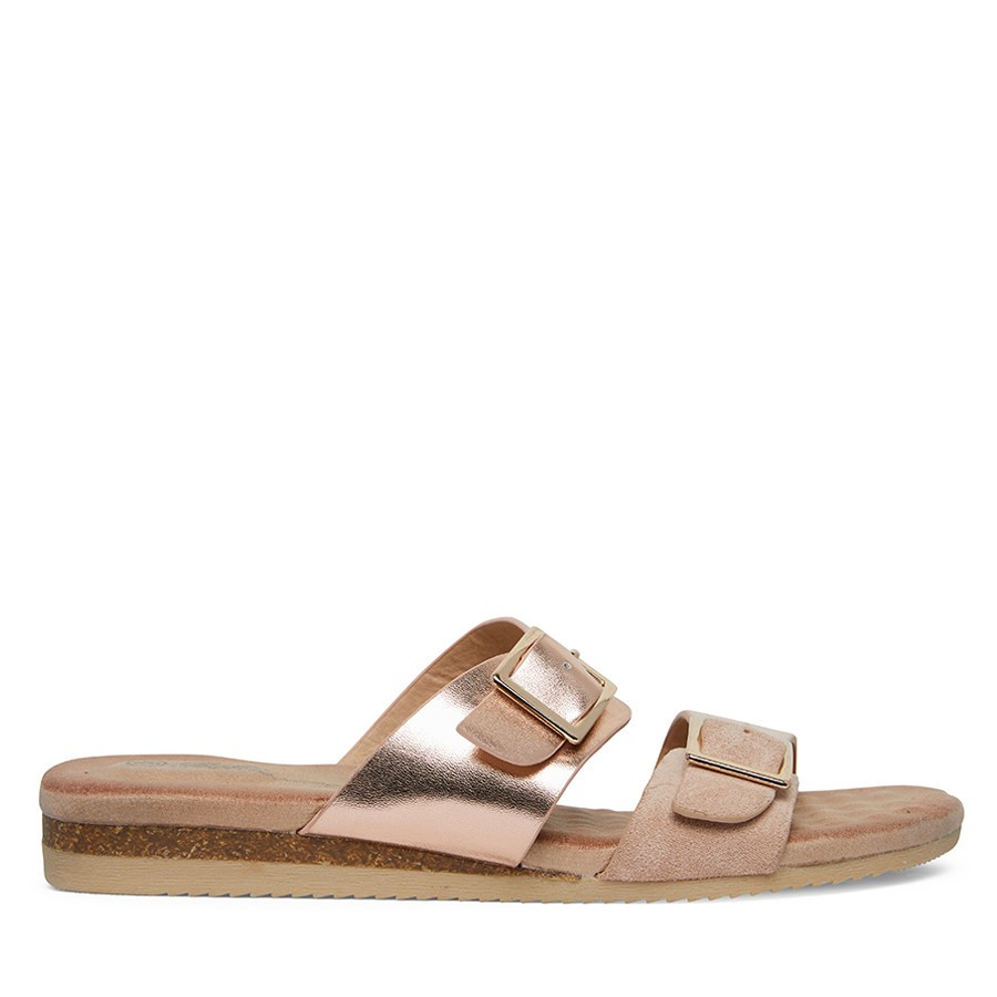 Shoewarehouse Aviva Natural/Rose Gold