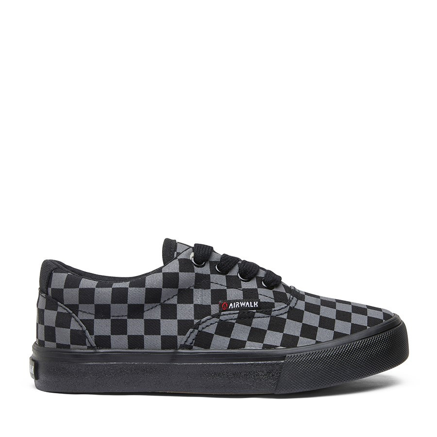 Shoe Warehouse Ox Jnr Black/Charcoal