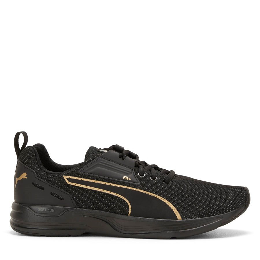 Shoewarehouse Comet Black/Gold