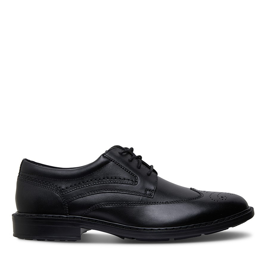 Shoewarehouse Tanner Wingtip Black