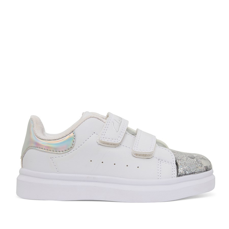 Shoewarehouse Queenie Jnr White/Silver