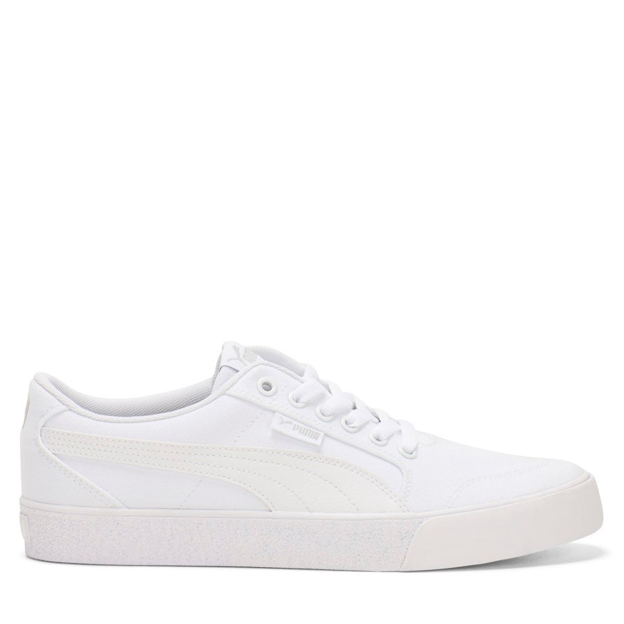 Shoewarehouse C Skate Vulc White/White