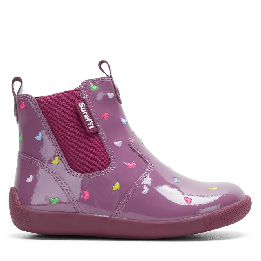 Shoewarehouse Mani Ii Boot Purple Print