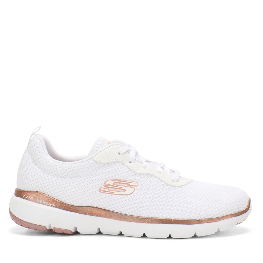 Shoewarehouse Flex Appeal 3.0 First Insight White/Rose Gold
