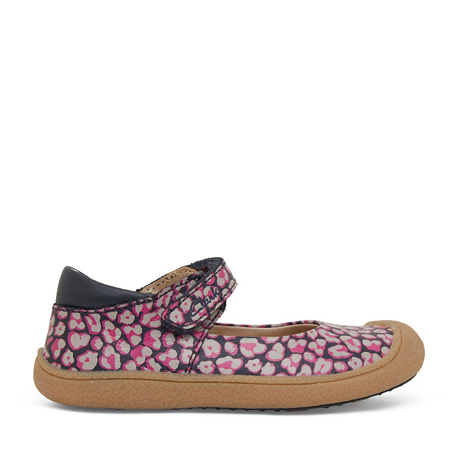 Shoewarehouse Kelsey Navy/Pink Leopard