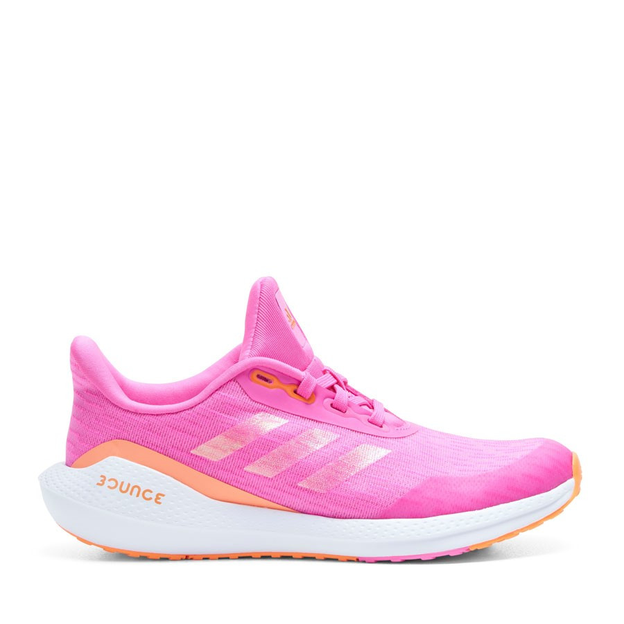 Shoewarehouse Eq Run J Girl Pink/Orange