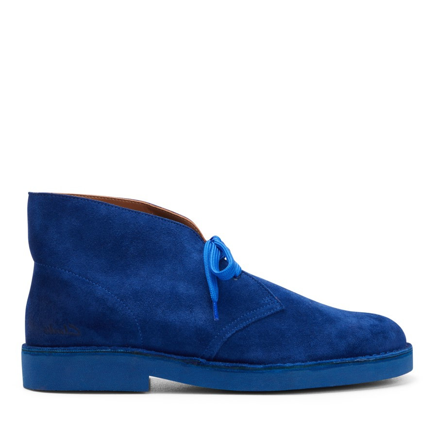 Shoe Warehouse Desertboot Comfort Mens Blue Suede