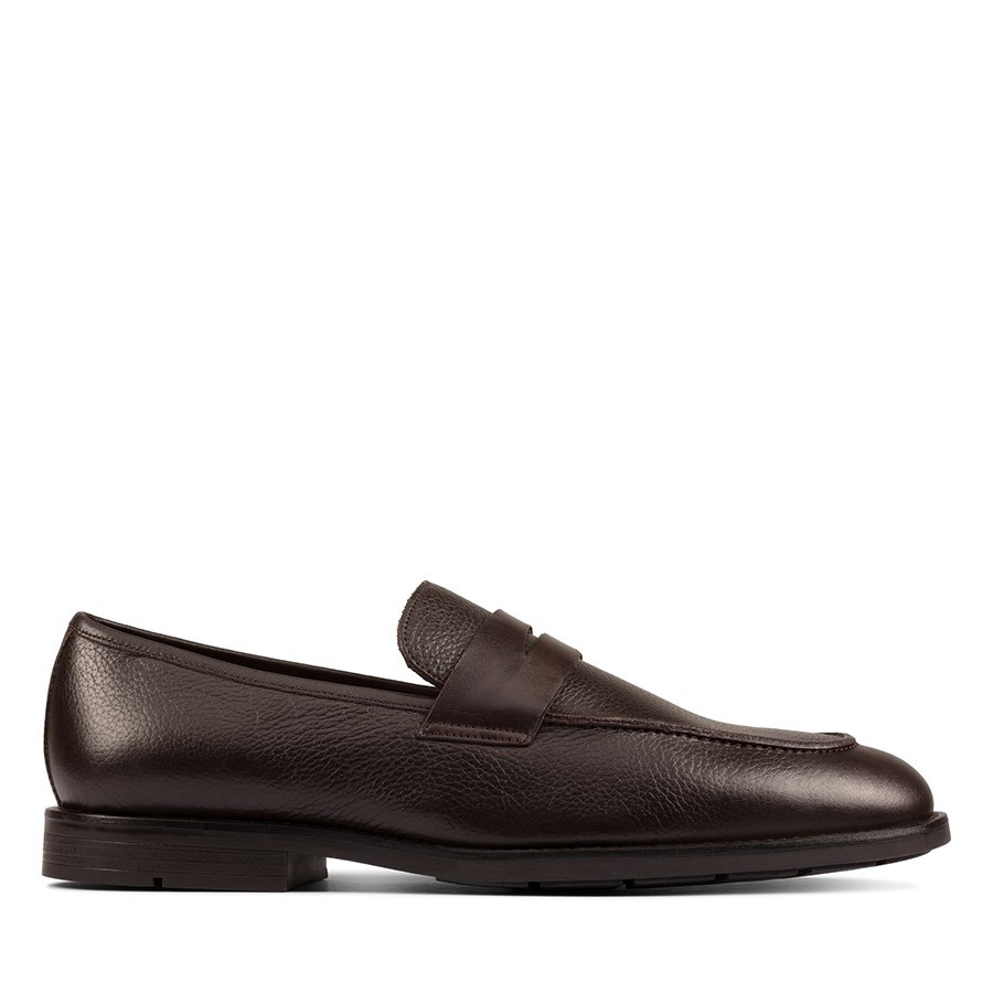 Shoewarehouse Ronnie Step Dark Brown Leather