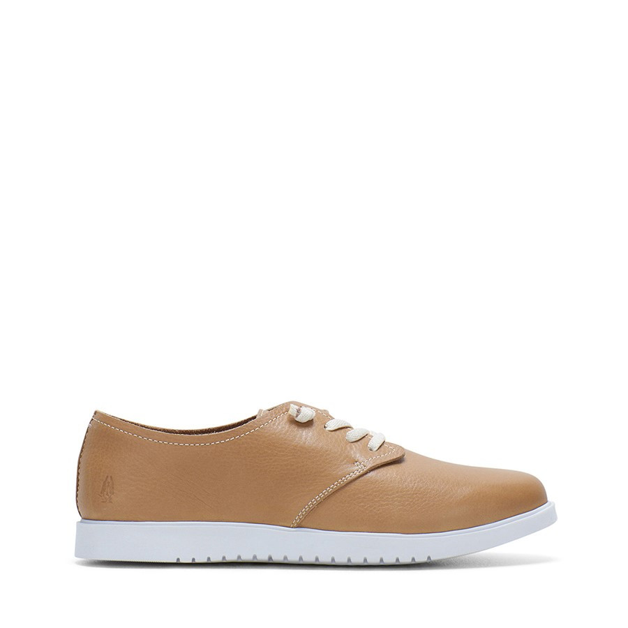 Shoewarehouse The Everyday Laceup W Tan Leather