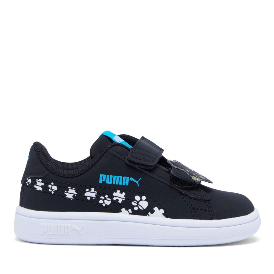 Shoewarehouse Puma Smash V2 Summer Animals Black/White