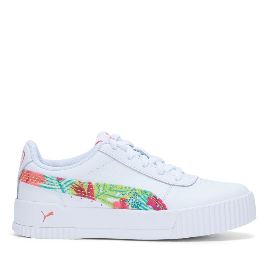 Shoewarehouse Carina L Tropical Punch Fs Yth White/Peach