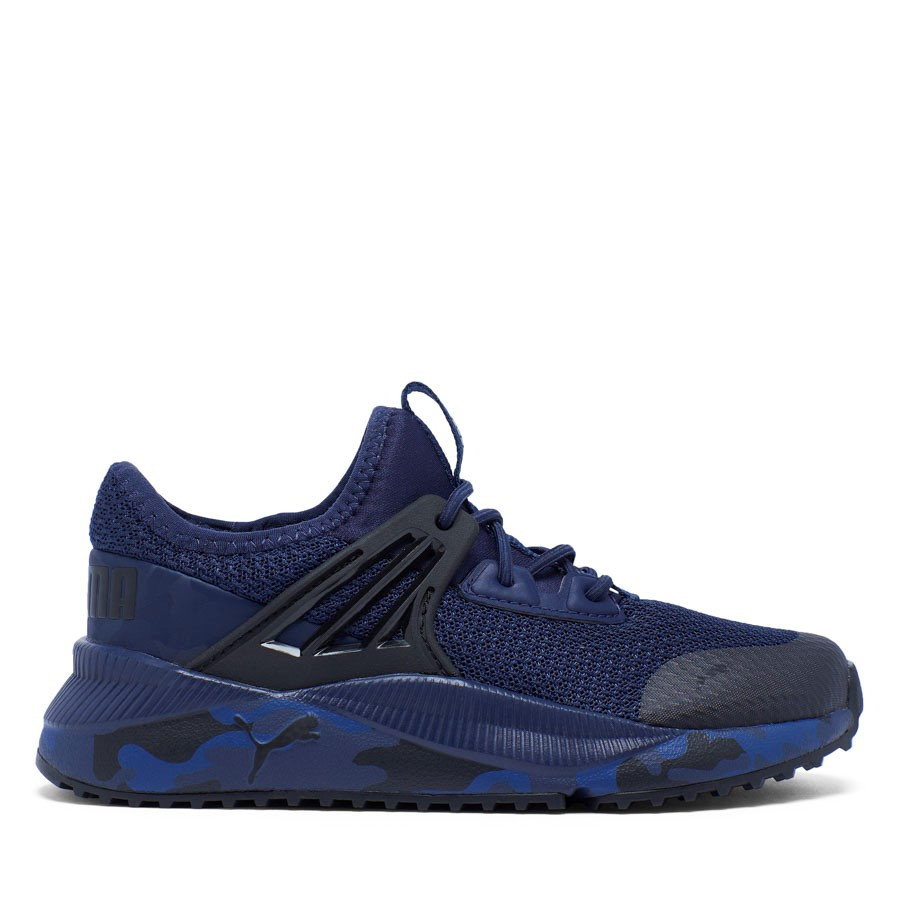 Shoewarehouse Pacer Future Camo Junior Navy/Black