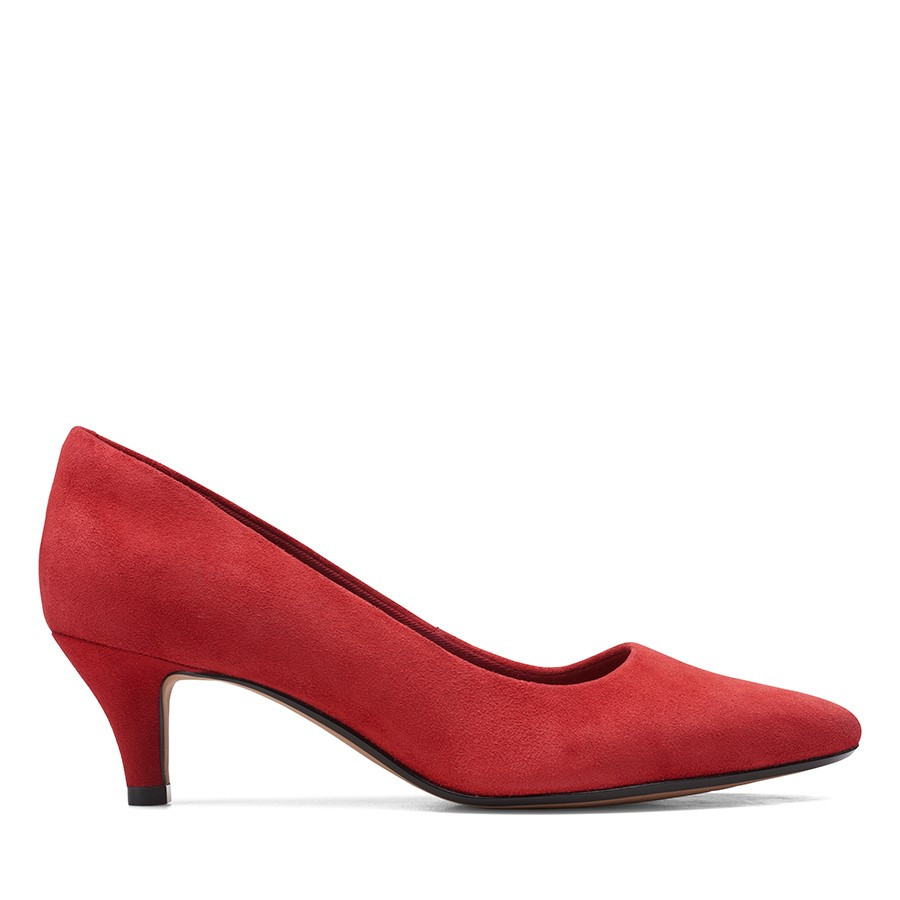 Shoewarehouse Linvale Jerica Red Suede