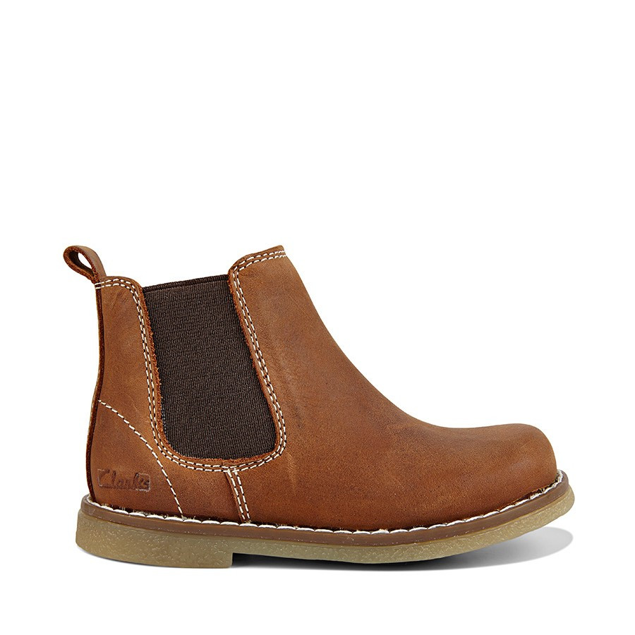 Shoe Warehouse Chelsea Inf Tan Crazy Horse