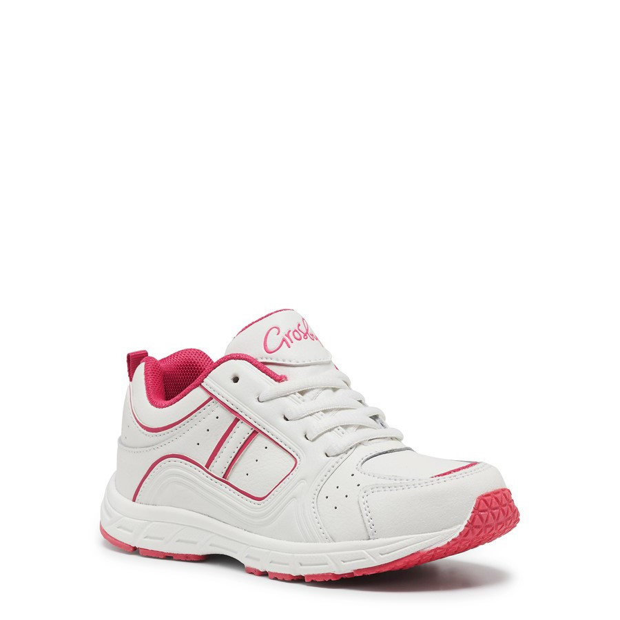 Shoe Warehouse Hype White/Fuchsia