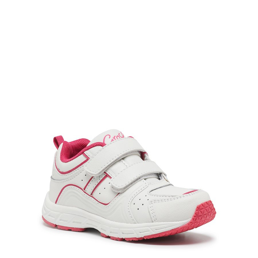 Shoewarehouse Heist White/Fuchsia