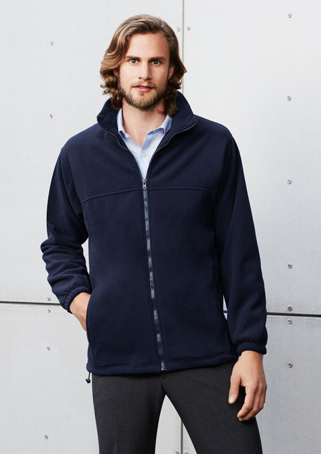 Men's Plain Micro Fleece Jacket Jacket