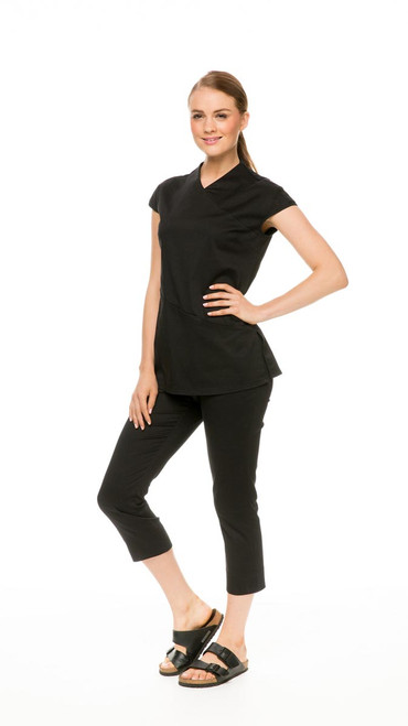 Capri Pant in black, with Asymmetric Tunic in black