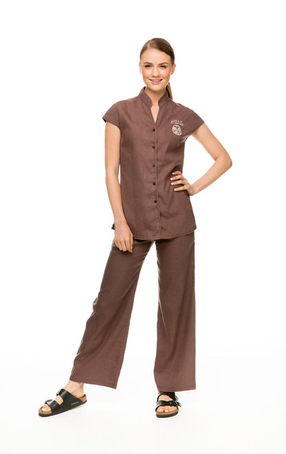 Hemp Pant with Hemp Tunic in cinnamon