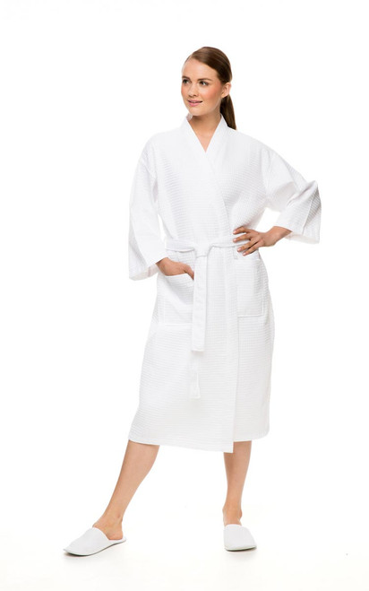 Waffle Bath Robe for Spa and Home