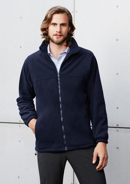Men's Plain Micro Fleece Jacket Jacket