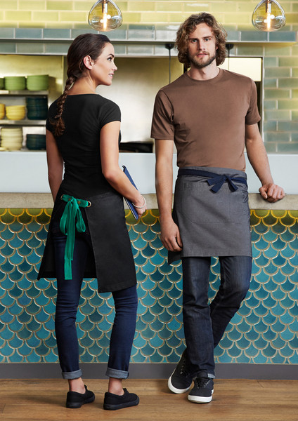 50% Cotton 50% Polyester textured fabric Urban Waist Aprons for Spas Cafe etc