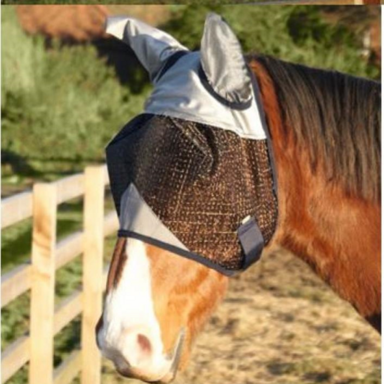 XF F LEGACY EQUESTRIAN RIP STOP FULL FACE FLY MASK WITH EARS /& NOSE 55/% UV C