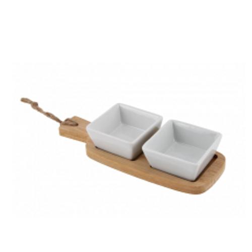 Mini Ceramic Double Nibble Bowl & Plate