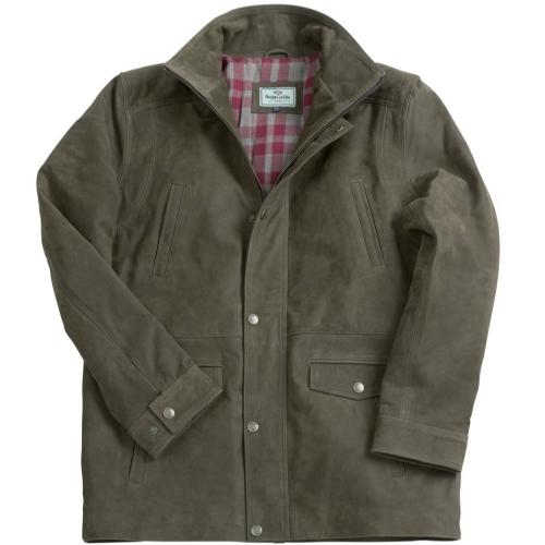 Hoggs Of Fife Dunkeld Leather Field Jacket, Khaki