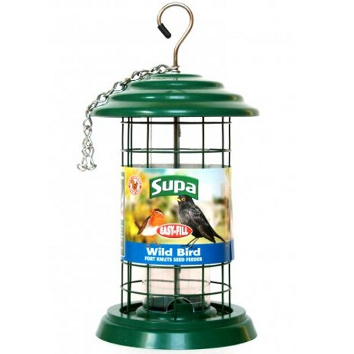Supa Easy Fill Plastic Fortress Seed Feeder Green