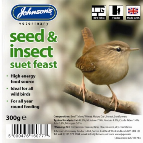 Wild Bird Suet Tray Seed & Insect