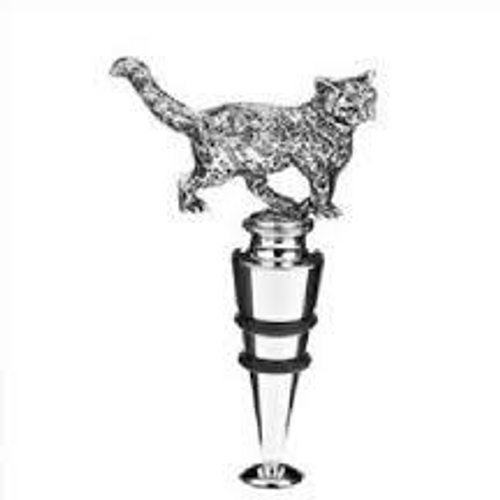 Orchid Designs Cat Wine Stopper