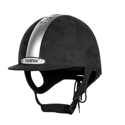 Champion Ventair Riding Hat - Black/Silver