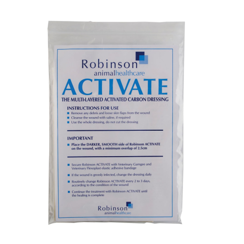Activate Carbon Wound Dressing 10 x 15cm - Pack of 5