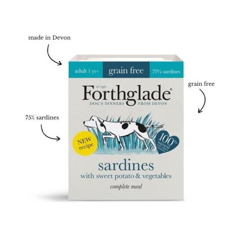 Forthglade Complete Meal - Sardines, Sweet Potato & Vegetables