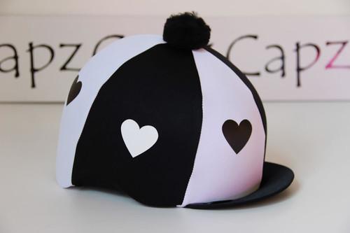 Capz Lycra Cap Cover - Hearts