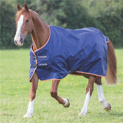 Shires Typhoon 100 Turnout Rug - Navy