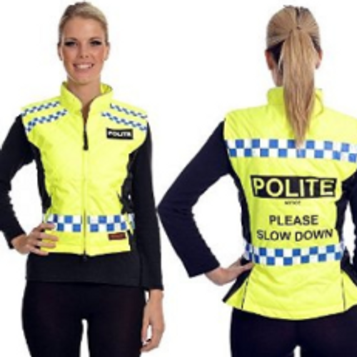 Equisafety Polite Quilted Gilet - Please Slow Down