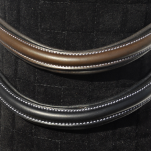 Rhinegold Italian Leather Plain Wave Anatomical Browband