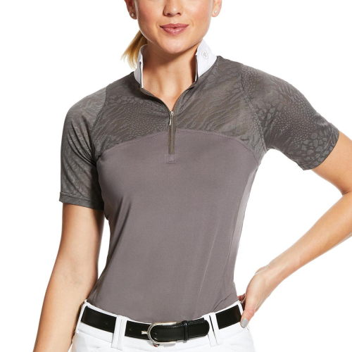 Ariat Airway1/4 Zip Show Shirt - Plum Grey