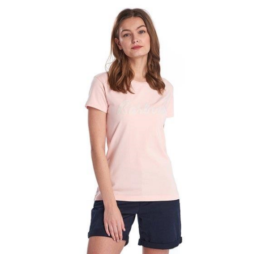 Barbour Ladies Rebecca T-Shirt Pale Coral