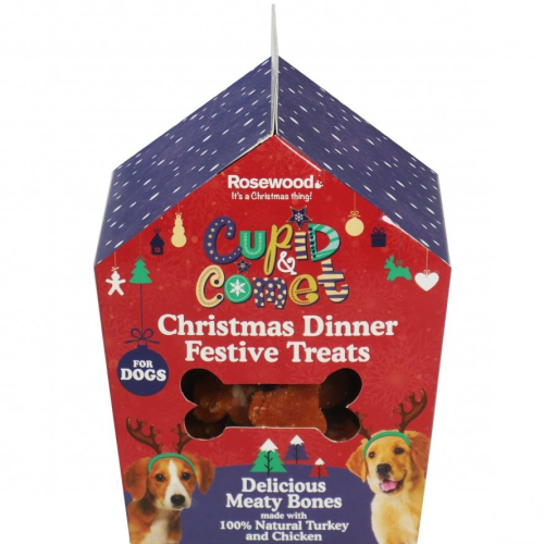 Cupid & Comet Christmas Dinner Treats Gift Box For Dogs 100g