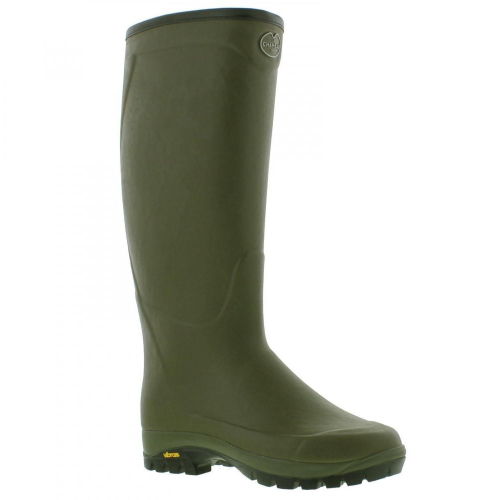 Le Chameau Country Vibram Wellie Boots, Green