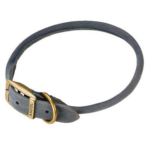 Ancol Timberwolf Leather Round Dog Collar