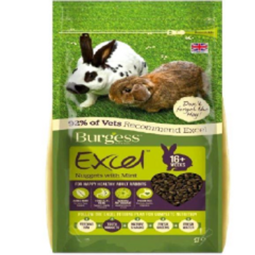 Burgess Excel Adult Rabbit Nugget with Mint